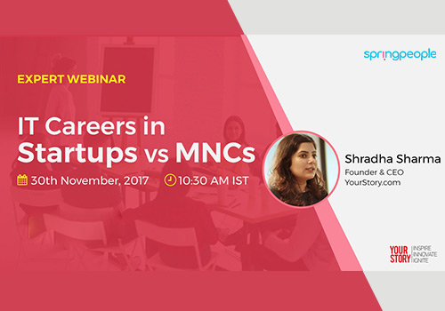 IT Careers in Startups vs MNCs Logo